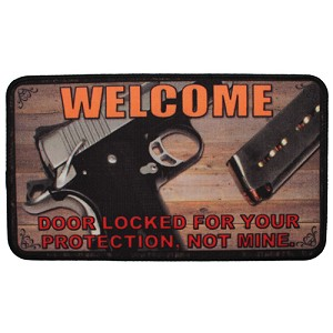 "Rivers Edge Products 18""x30"" Door Mat- This Door Is Locked 1871"