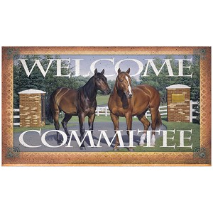 "Rivers Edge Products 18""x30"" Door Mat- Horse Welcome Mat 1874"