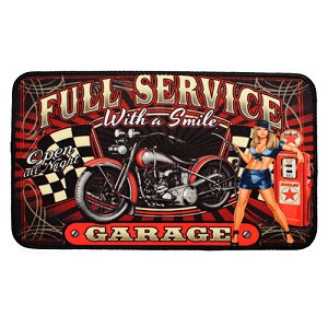 "Rivers Edge Products 18x30"" DoorMat-Full ServiceMotorcycle 1875"