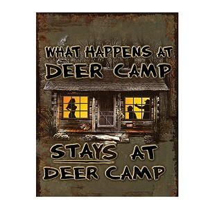 Rivers Edge Products Heavy Metal Deer Camp Sign 2206