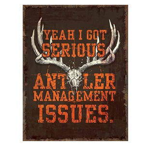 Rivers Edge Products Heavy Metal Antler Management Sign 2210