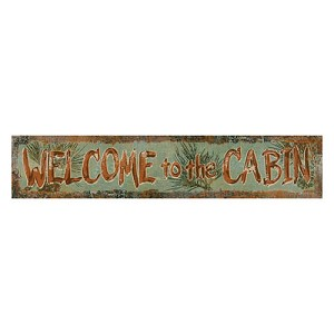 Rivers Edge Products Heavy Metal Welcome To The Cabin Sign 2312