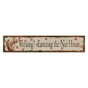 Rivers Edge Products Heavy Metal Nut House Sign 2315