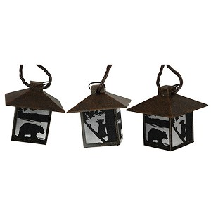 Rivers Edge Products Bear Rustic Lantern Lights 10 Pc 411