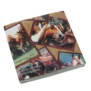 Rivers Edge Products Horse Napkins 20 Pack 627