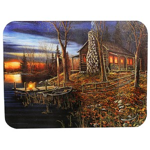 Rivers Edge Products Cabin Scene Cutting Board 746