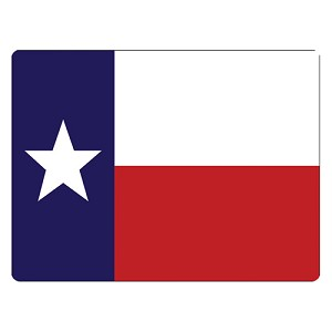 Rivers Edge Products Texas Flag Glass Cutting Board BBBCTX