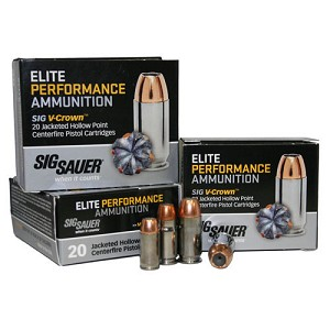 Sig Sauer 38 Super +P 125gr Elite V-Crown JHP /20 E38SU1-20