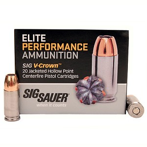 Sig Sauer 9mm 147gr Elite V-Crown JHP /20 E9MMA3-20