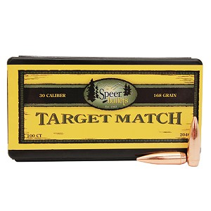 Speer 30Cal 168Gr Match BT/100 2040
