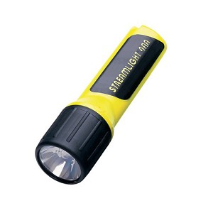 Streamlight 4AA with alkaline batteries.  CP. Yellow 68254