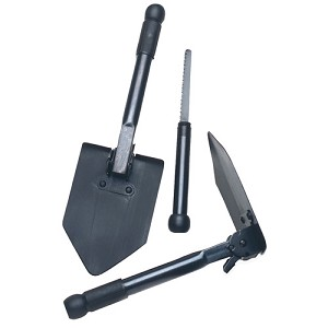 Tex Sport Shovel, Folding Survival w/Saw 31677