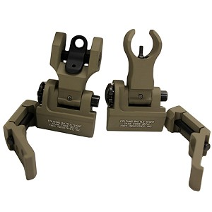 Troy Industries 45 Degree Offset M4/Dioptic Rr StSet FDE SSIG-45S-MDFT-00