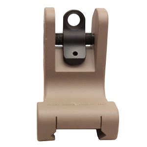 Troy Industries Rear Fixed Battle Sight - FDE SSIG-FRS-R0FT-00