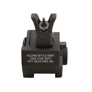 Troy Industries Front M4 Fld Gas Block Sight BLK SSIG-GBF-0MBT-00