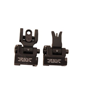 Troy Industries Md Sight Set, M4 Front & Round Rear Blk SSIG-MDS-MRBT-00