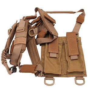 Troy Industries Sling, PDW Shoulder Harness -TAN SSLI-PSH-00TT-00