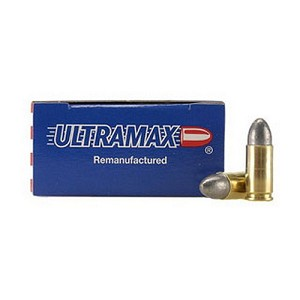 Ultramax 9MM Luger 125Gr. RN Lead/50 9R1