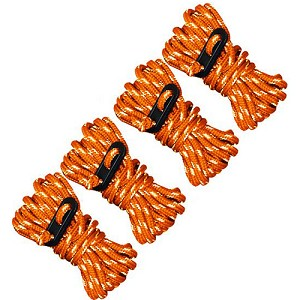 Ultimate Survival Technologies Guy Line Reflective 4-Pk, Orange/Reflect 20-02096-08