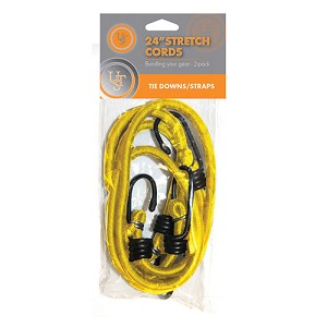 "Ultimate Survival Technologies Stretch Cord - 24"" 2-pack, Yellow 20-2X24-07"