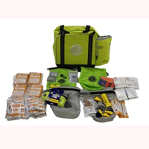 Ultimate Survival Technologies Loaded Ditch Bag - 4-person, Lime 20-724-01