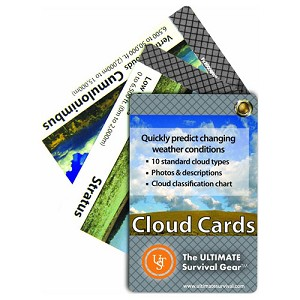 Ultimate Survival Technologies Learn and Live Cards - Clouds  20-80-0260