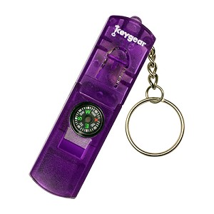 Ultimate Survival Technologies LED Whistle Compass, Purple 50-KEY0077-38