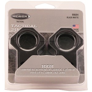 Weaver Tactical Ring 6-Hole Picatinny 34Mm High 99684