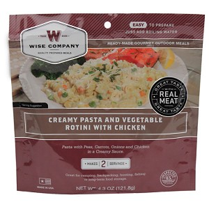 Wise Foods CreamyPasta&VegeRotini w/Chckn 2 SrvngPch 03-706