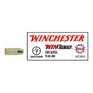 Winchester Ammo USA 380 Auto 95gr Brass Enclosed WC3801