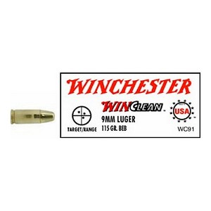 Winchester Ammo USA 9mm Luger 115gr BrassEnclose WC91