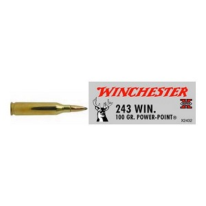 Winchester Ammo SupX 243 Win 100gr Power Point X2432