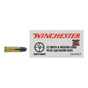 Winchester Ammo SupX 32 S&W Long 98Gr. Lead RN/50 X32SWLP