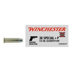 Winchester Ammo SupX 38 SPL+P 125gr SilvrtipHP/50 X38S8HP