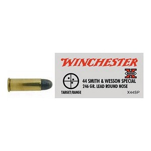 Winchester Ammo SupX 44S&W SPL 246Gr. Lead RN/50 X44SP