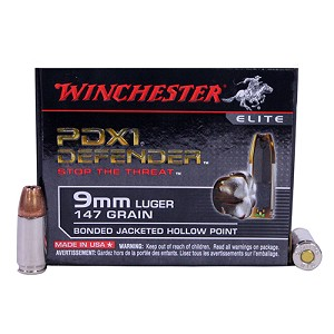 Winchester Ammo SupremElt 9mmLuger 147gr PDX1 /20 S9MMPDB1