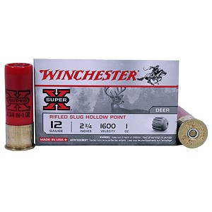 "Winchester Ammo 12Ga. 2.75"" 1oz Rifled/5 X12RS15"