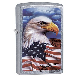 Zippo Outdoors Windproof Lighter -Eagle Mazzi -Strt Chrm 24764