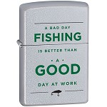 Zippo Outdoors Windproof Lighter- Fishing - Satin Chrome 28893