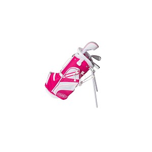 Tour X Size 0 Pink 3pc Jr Golf Set w Stand Bag