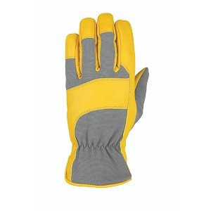 Heatwave Leather Glove Gray Tan Goatskin M