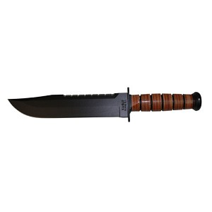 Ka-Bar Big Brother Fixed 9.3 in Black Blade Leather Handle