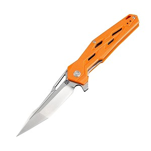 Artisan Bombardier Folder 3.54 in D2 Blade Orange G-10