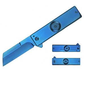 Impulse Product Spinner Folder 3.0 in Blue Blade and Handle