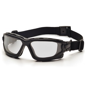 Pyramex I-Force Slim Blk Frame Clear AF Lens Sealed Eyewear